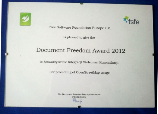 Document Freedom Award 2012 SISKOM